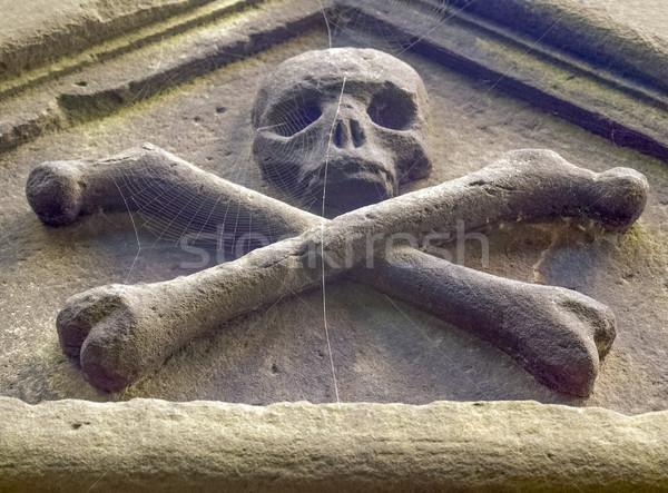 Goth photos crâne os gothique sombre Photo stock © claudiodivizia