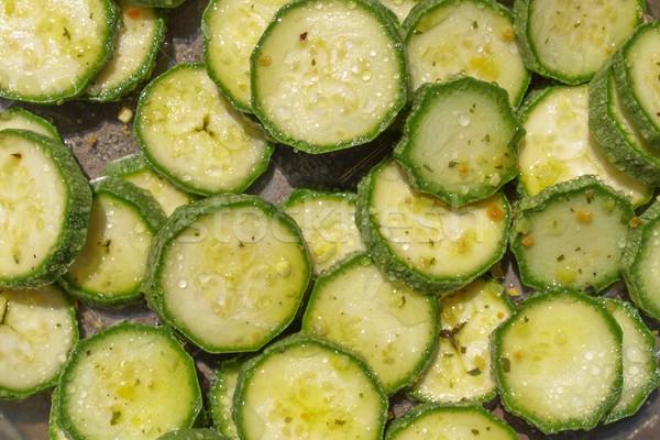 Courgettes vert légumes utile fond modèle Photo stock © claudiodivizia