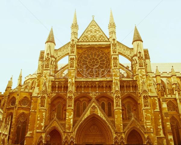 Retro looking Westminster Abbey Stock photo © claudiodivizia