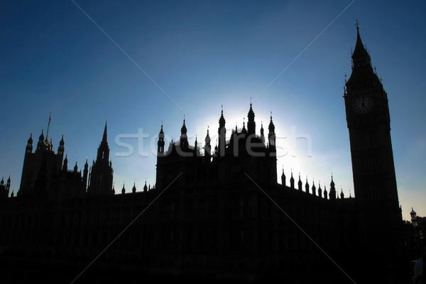 Maisons parlement goth nuit vue silhouette Photo stock © claudiodivizia