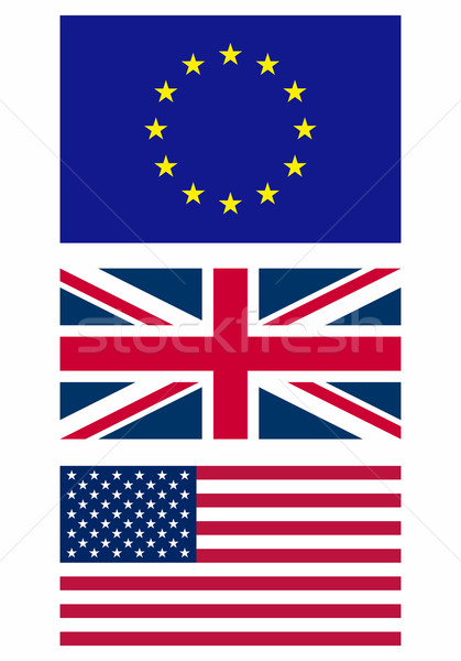 Vlag illustratie Europa teken land amerika Stockfoto © claudiodivizia