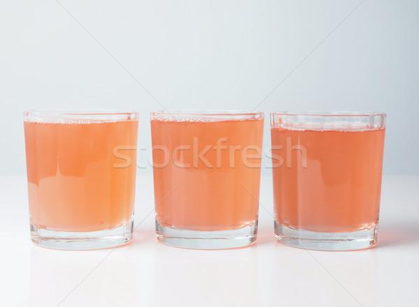 Sinaasappelsap continentaal ontbijt tabel vruchten glas bar Stockfoto © claudiodivizia