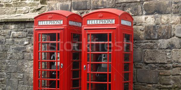 London Telefon Feld traditionellen rot Skyline Stock foto © claudiodivizia
