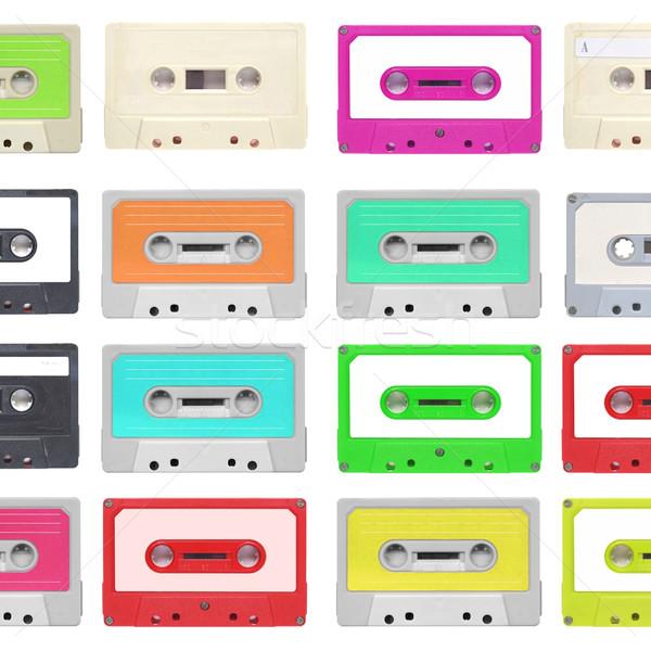 Taśmy kaseta zestaw magnetyczny audio muzyki Zdjęcia stock © claudiodivizia