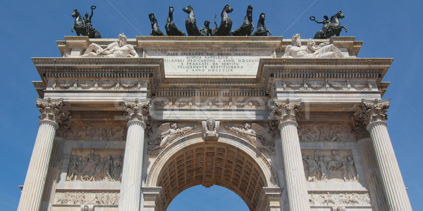 Arco della Pace, Milan Stock photo © claudiodivizia