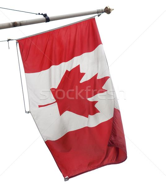 Kanada zászló kanadai zászló levél Stock fotó © claudiodivizia