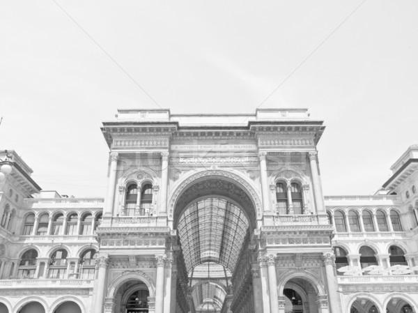 ミラノ イタリア ヴィンテージ 古代 町 ヨーロッパの ストックフォト © claudiodivizia