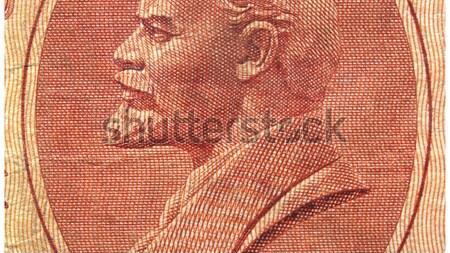 Portret vintage 10 Rood bank nota Stockfoto © claudiodivizia
