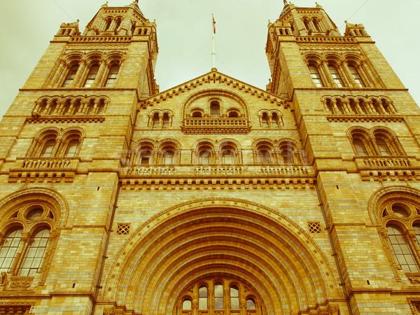 Retro naar natuurlijke geschiedenis museum Londen Stockfoto © claudiodivizia