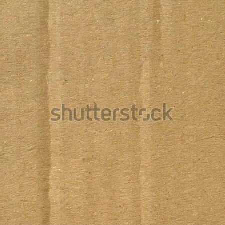 Carton brun papier utile bureau fond Photo stock © claudiodivizia