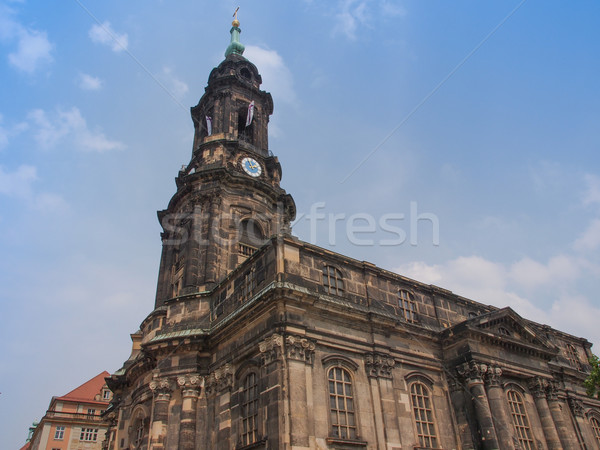 Kreuzkirche Dresden Stock photo © claudiodivizia