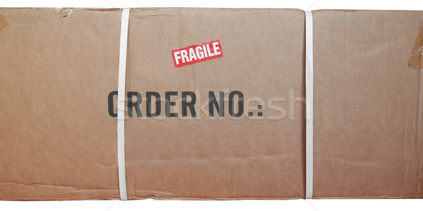 Packet parcel isolated Stock photo © claudiodivizia