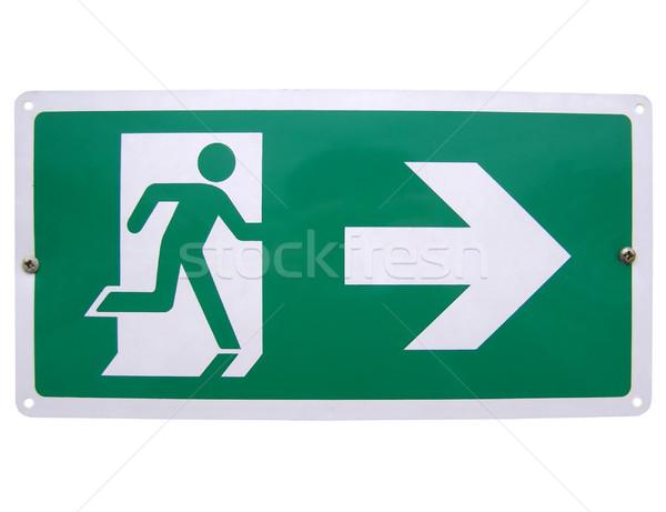 Feuer exit sign Verkehr Gefahr Code Richtung Stock foto © claudiodivizia