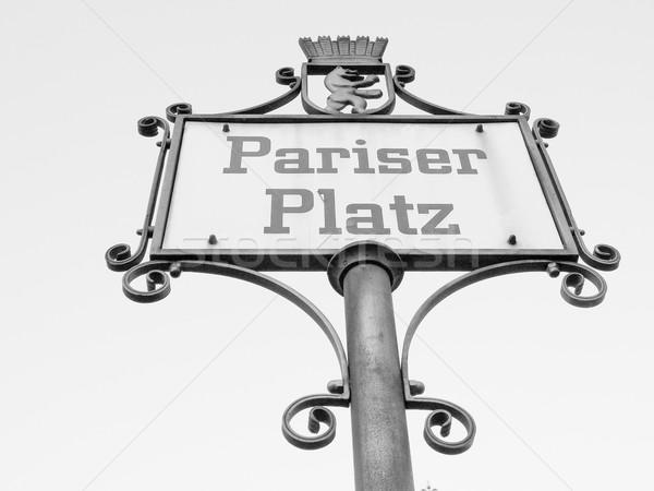 Pariser Platz sign  Stock photo © claudiodivizia