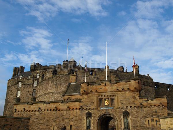 Edimburgo castelo escócia grã-bretanha Reino Unido construção Foto stock © claudiodivizia