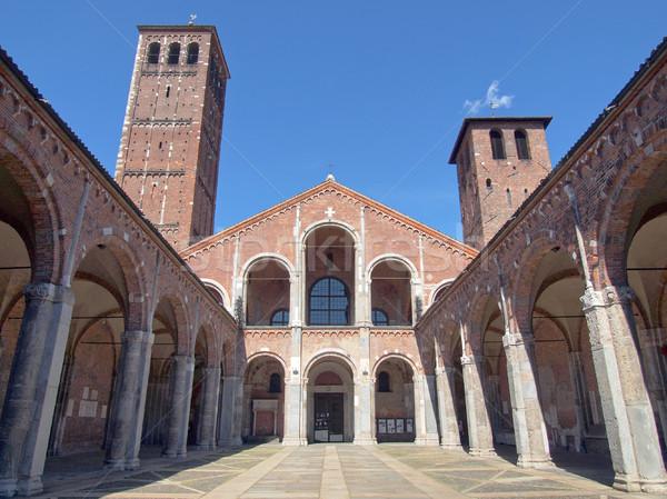 教会 ミラノ バシリカ イタリア レトロな ヨーロッパ ストックフォト © claudiodivizia