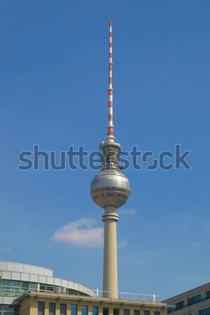 ストックフォト: テレビ · 塔 · ベルリン · テレビ · ドイツ · 建物