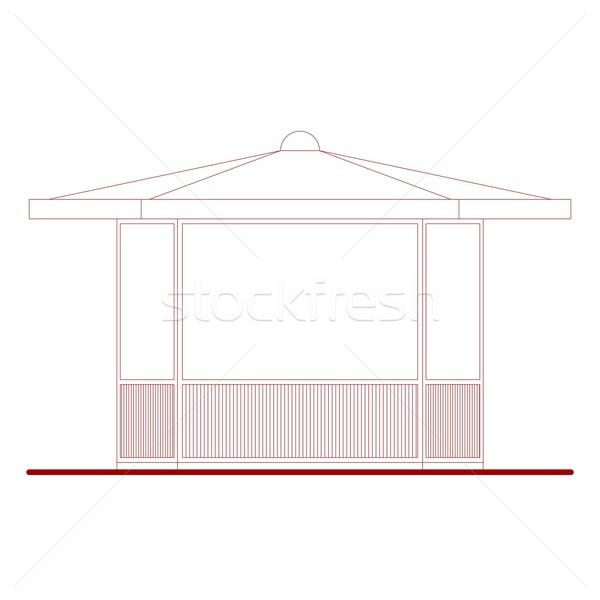 Architectural drawing Stock photo © claudiodivizia