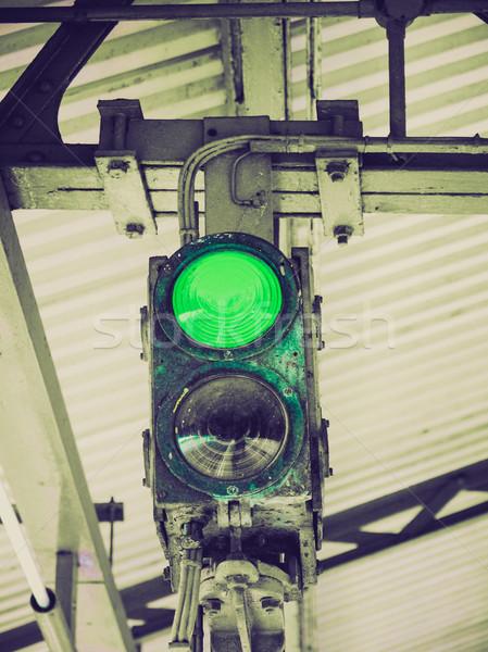 Retro look Green Light Stock photo © claudiodivizia