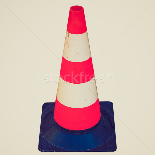 Retro look Traffic cone Stock photo © claudiodivizia