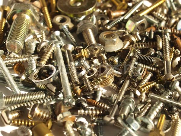Hardware industrial acero nueces fondo hierro Foto stock © claudiodivizia