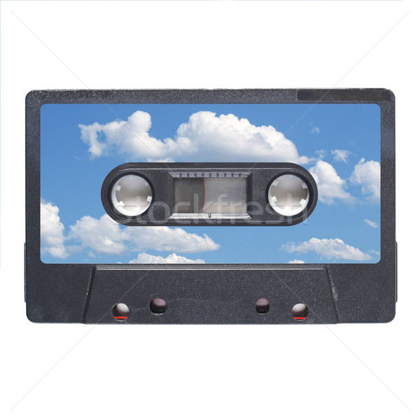 Nastro cassette magnetico audio musica cielo blu Foto d'archivio © claudiodivizia