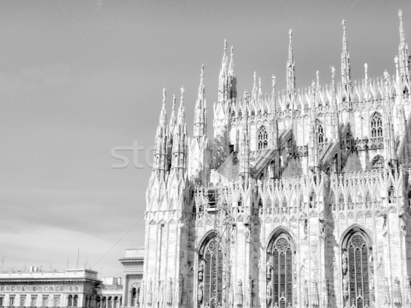 Mediolan gothic katedry kościoła wysoki Zdjęcia stock © claudiodivizia