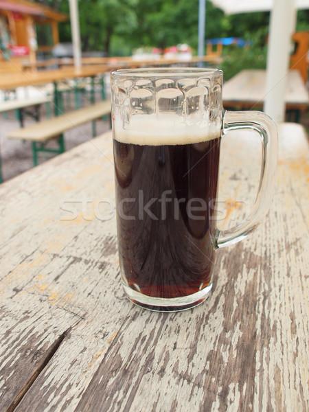 Karanlık bira cam bar alkol birahane Stok fotoğraf © claudiodivizia