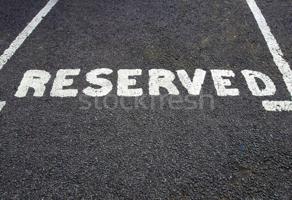 Reserved parking sign Stock photo © claudiodivizia
