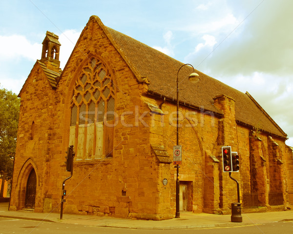 Retro looking St John Hospital, Coventry Stock photo © claudiodivizia