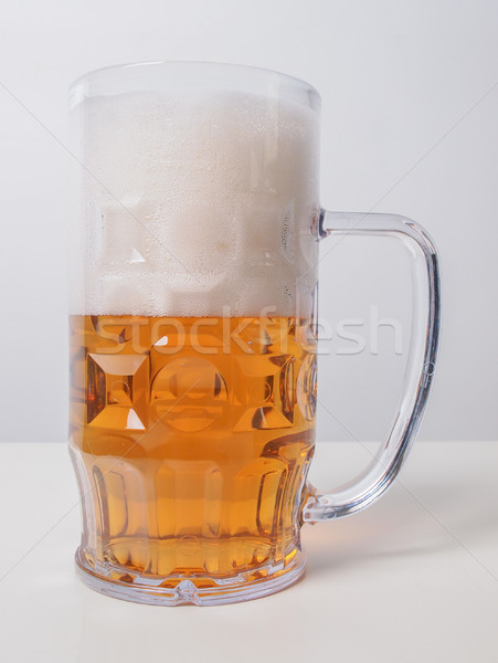 Lagerbier Bier Glas groß Stock foto © claudiodivizia