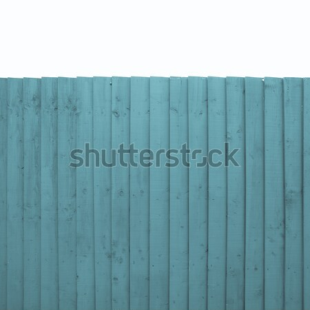Clôture bleu bois ciel bleu isolé blanche Photo stock © claudiodivizia