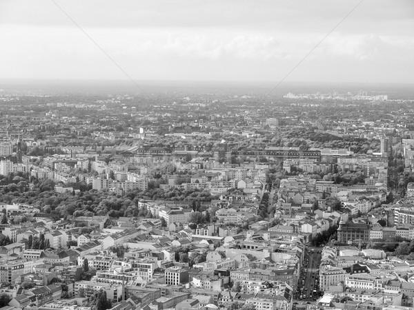 Berlin görmek şehir Almanya siyah beyaz Stok fotoğraf © claudiodivizia