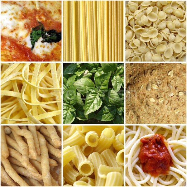 Italian food collage Stock photo © claudiodivizia