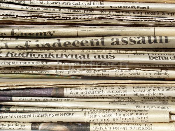 Periódicos detalle internacional papel noticias Foto stock © claudiodivizia