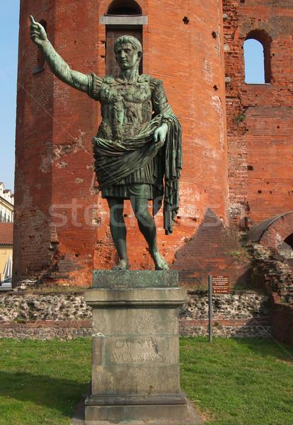 Sezar heykel towers İtalya kapı Stok fotoğraf © claudiodivizia