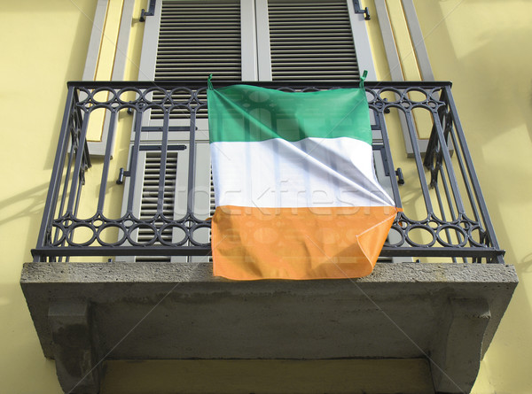 Irlandés bandera Irlanda verde blanco Foto stock © claudiodivizia