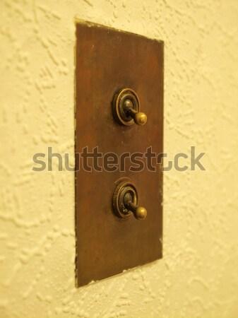 光スイッチ 詳細 表示 電気 壁 レトロな ストックフォト © claudiodivizia