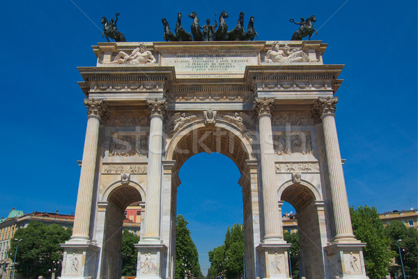 Iram Milánó ív béke Olaszország retro Stock fotó © claudiodivizia