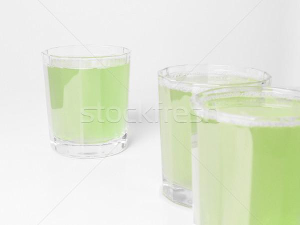 Verde succo di mela occhiali colazione continentale tavola mela Foto d'archivio © claudiodivizia
