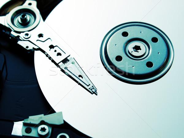 Merevlemez részlet mágneses számítógép szerver háló Stock fotó © claudiodivizia