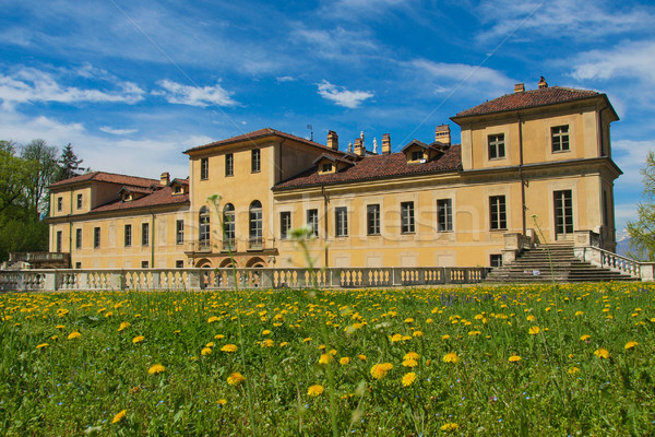 Villa İtalya mimari bağbozumu eski Stok fotoğraf © claudiodivizia