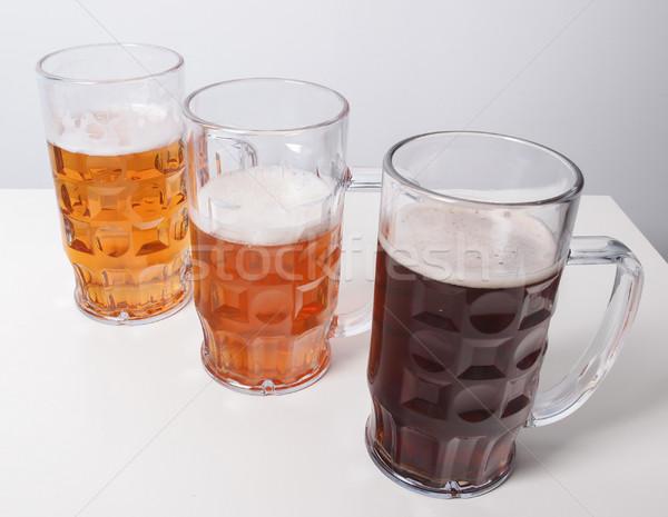 Sör sok szemüveg alkohol Németország sápadt Stock fotó © claudiodivizia
