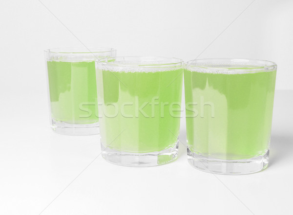 Vert jus de pomme verres table pomme Photo stock © claudiodivizia