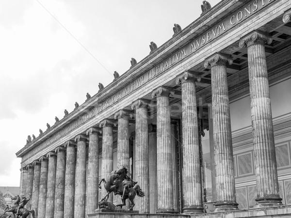 Берлин музее древности Германия черно белые черный Сток-фото © claudiodivizia