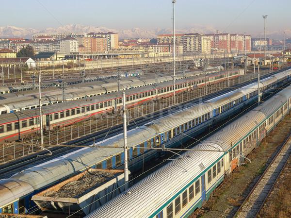 Spoorweg trein vervoer vervoer Italië Stockfoto © claudiodivizia