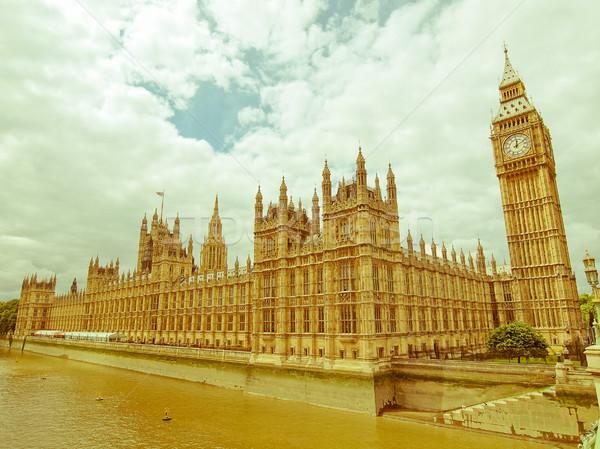 ретро глядя домах парламент Vintage посмотреть Сток-фото © claudiodivizia