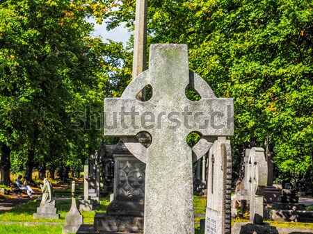 Retro looking Glasgow cemetery Stock photo © claudiodivizia