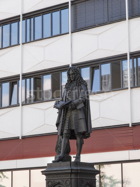 Leibniz Denkmal Leipzig Stock photo © claudiodivizia
