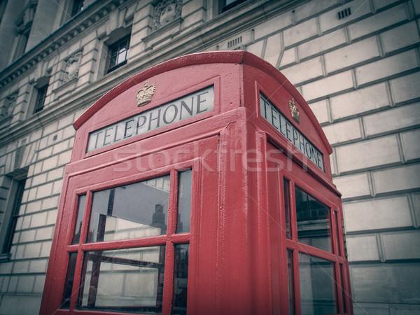 Rétro Rechercher Londres téléphone boîte vintage Photo stock © claudiodivizia